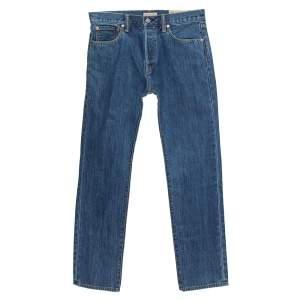 Burberry Indigo Medium Wash Denim Farndon Straight Jeans M