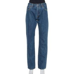 Burberry Navy Blue Denim Straight Leg Farndon Jeans L