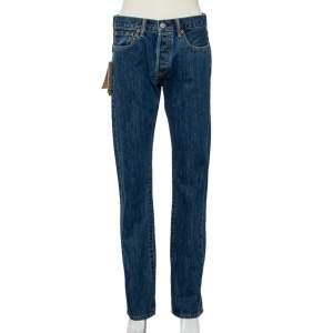 Burberry Indigo Medium Wash Denim Straight Fit Jeans M
