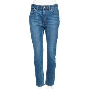 Burberry Blue Denim Cropped Skinny Jeans M