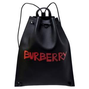 Burberry Black Leather Bobby Backpack