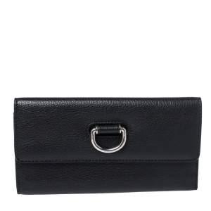 Burberry Black Leather Highbury Continental Wallet