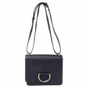 Burberry Blue Leather Small D-Ring Shoulder Bag