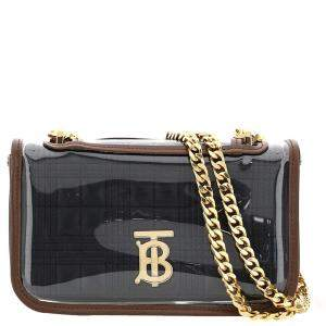 Burberry Black Quilted Lambskin Leather Lola with Transparent Cover Mini Bag