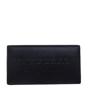 Burberry Black Leather Hastings Bifold Wallet