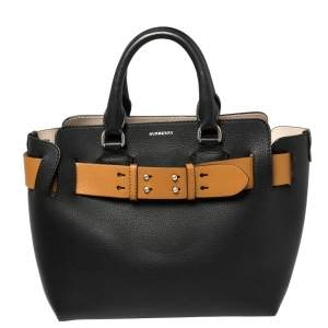 Burberry Black/Brown Leather Small Belt Bag