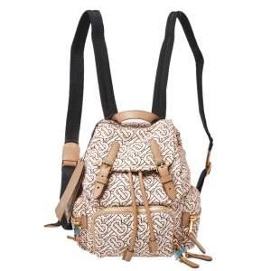 Burberry Blush Pink TB Print Nylon Small Rucksack Backpack
