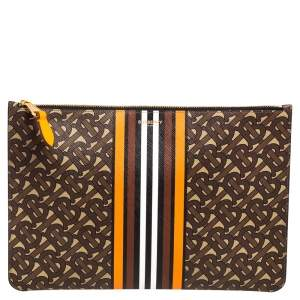 Burberry Multicolor TB-Print Coated Canvas Pouch