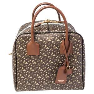 Burberry Bridle Brown Medium Cube Duffle Bag