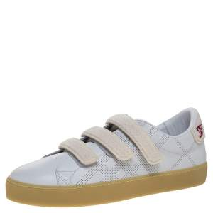 Burberry White Leather Becky Perf Sneakers Size 40