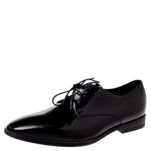 Burberry Black Leather Lace Up Derby Size 38