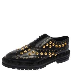 حذاء ديربي بربري ديرداون جلد أسود مرصع مقاس 40