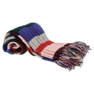 Burberry Multicolor Striped Long Chunky Knit Scarf