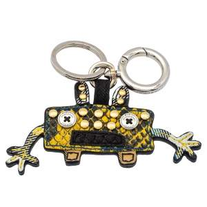 Burberry Bright Toffee Snakeskin Embossed Leather Monster Bag Charm/Keyring