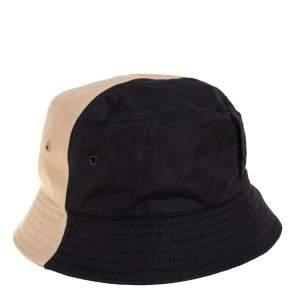 Burberry Bicolor Cotton Twill Bucket Hat XL