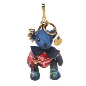 Burberry Cadet Blue Thomas Pin Punk Bag Charm /Key Ring