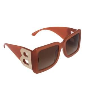 Burberry Orange B Motif 4312 Oversized Square Sunglasses