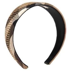 Burberry Brown Novacheck Crystal Embedded Headband