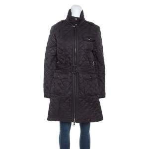 Burberry Black Diamond Quilted Coat M