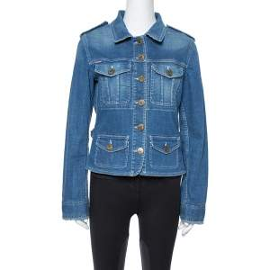 Burberry Vintage Denim Patch Pocket Detail Jacket M