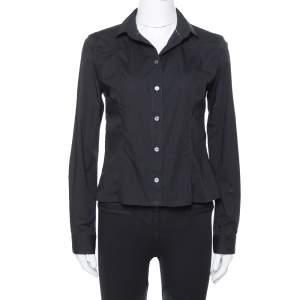Burberry Brit Black Stretch Cotton Long Sleeve Shirt M