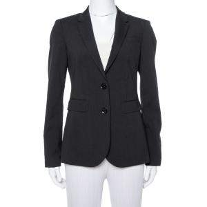 Burberry Black Wool Two Button Tailored Blazer S
