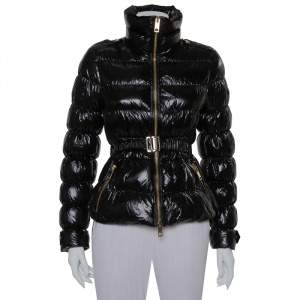 Burberry Black Synthetic Down Puffer Jacket S