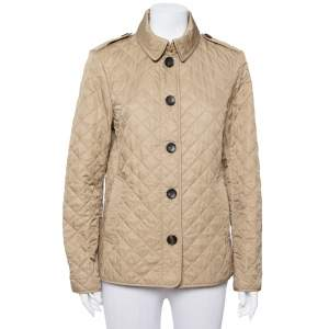 Burberry Brit Beige Cotton Quilted Ashurst Jacket L