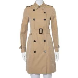 معطف بربري ذا كينغستون قطن بيج بحزام مقاس صغير جدًا - إكس سمول