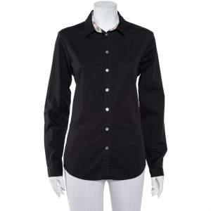 Burberry Brit Black Cotton Button Front Shirt L