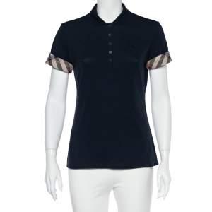 Burberry Brit Navy Blue Cotton Pique Polo T-Shirt M