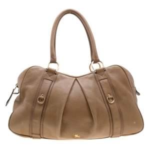 حقيبة هوبو بربري ماليكا جلد سوداء كبيرة