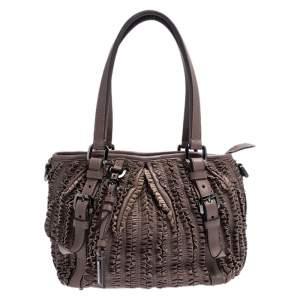 حقيبة بربري لوري أولد روز جلد مكشكشة