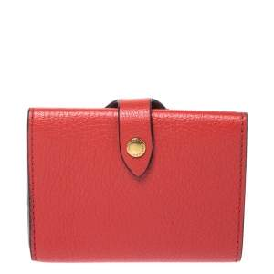 Burberry Red Leather Small Harlow Wallet