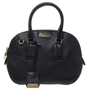 Burberry Black Leather Small Orchard Bowler Bag