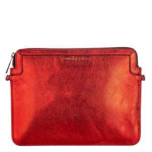 Burberry Red Leather Shoulder Bag