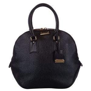 Burberry Black Leather Medium Orchard Bag