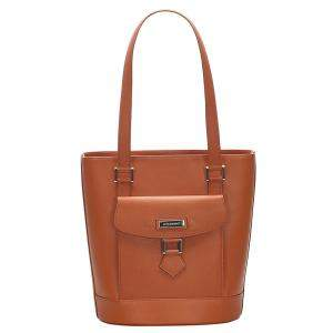 Burberry Brown Leather Front Pocket Tote Bag