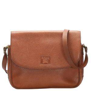 Burberry Brown Leather   Shoulder Bags