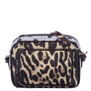 Burberry Multicolor Animal Print Leather Camera Bag
