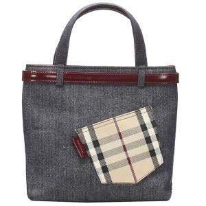 Burberry Blue Denim Tote Bag