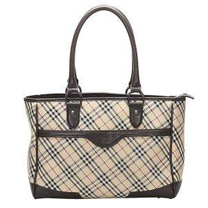 Burberry Brown/Beiege Nova Check Canvas Shoulder Bag