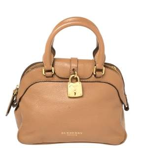Burberry Brown Leather Small Milverton Satchel