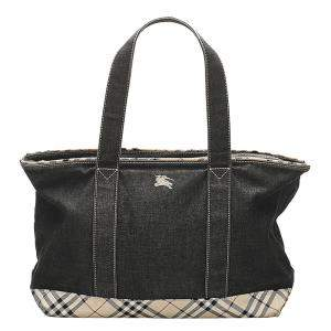 Burberry Black Denim Top Handle Bag