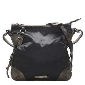 Burberry Black/Grey Nylon Shoulder Bag