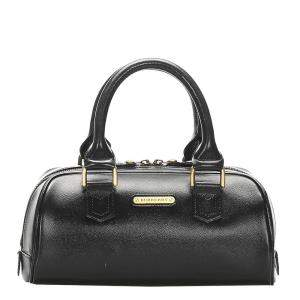 Burberry Black Leather Satchel Bag