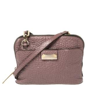 Burberry Mauve Leather Small Harrogate Crossbody Bag
