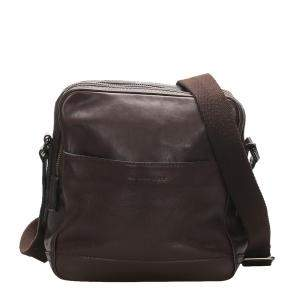 Burberry Black/Dark Brown Leather Crossbody Bag