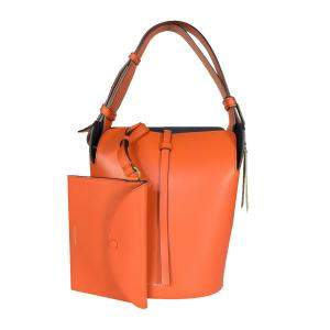 Burberry Clementine Supple Leather Small Bucket Bag