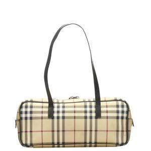 Burberry Brown/Beige House Check Shoulder Bag